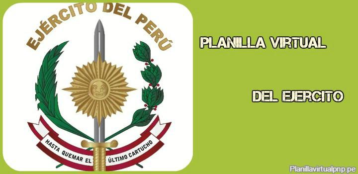 Planilla Virtual del Ejercito Peru
