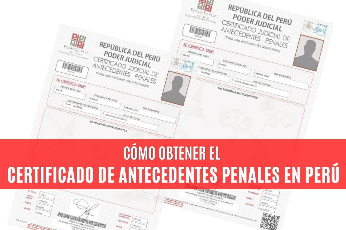 Cómo obtener el Certificado de Antecedentes Penales en Perú
